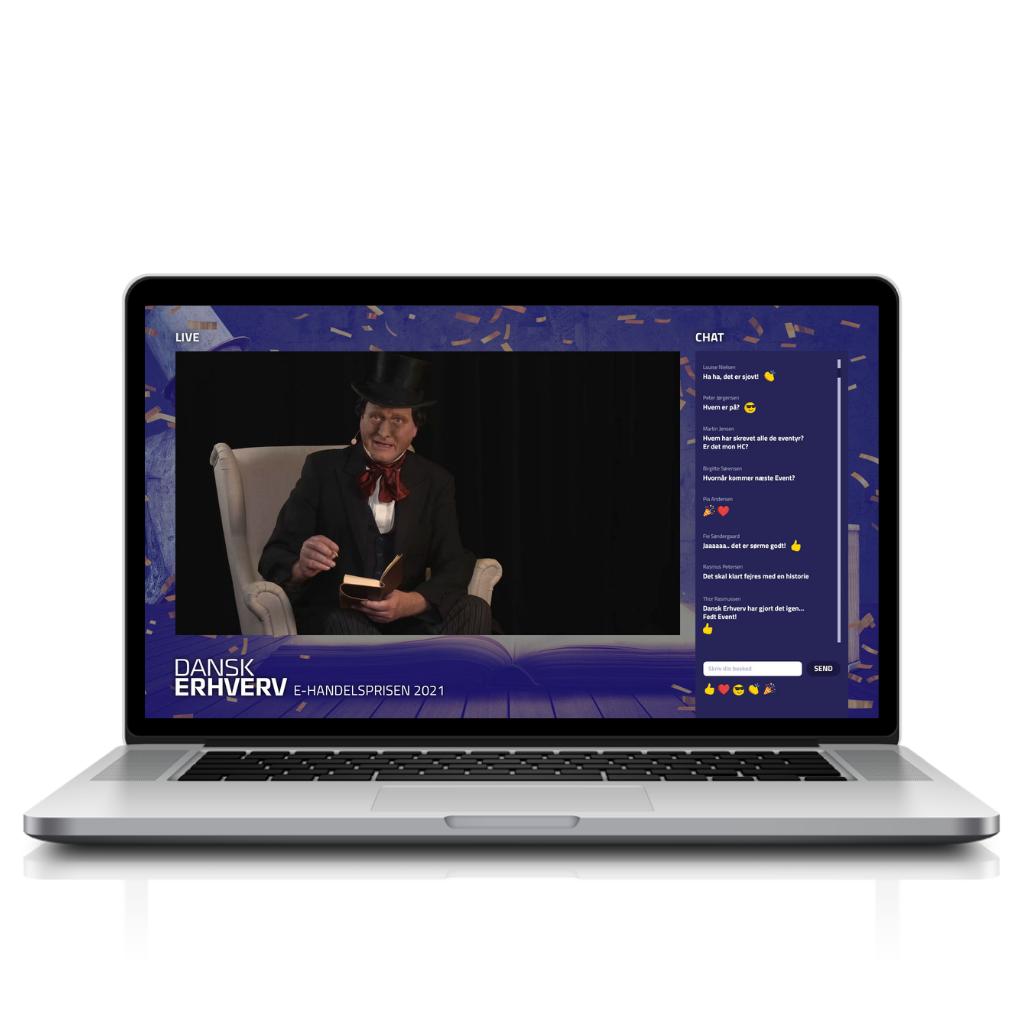 Dansk Erhverv platform Live page