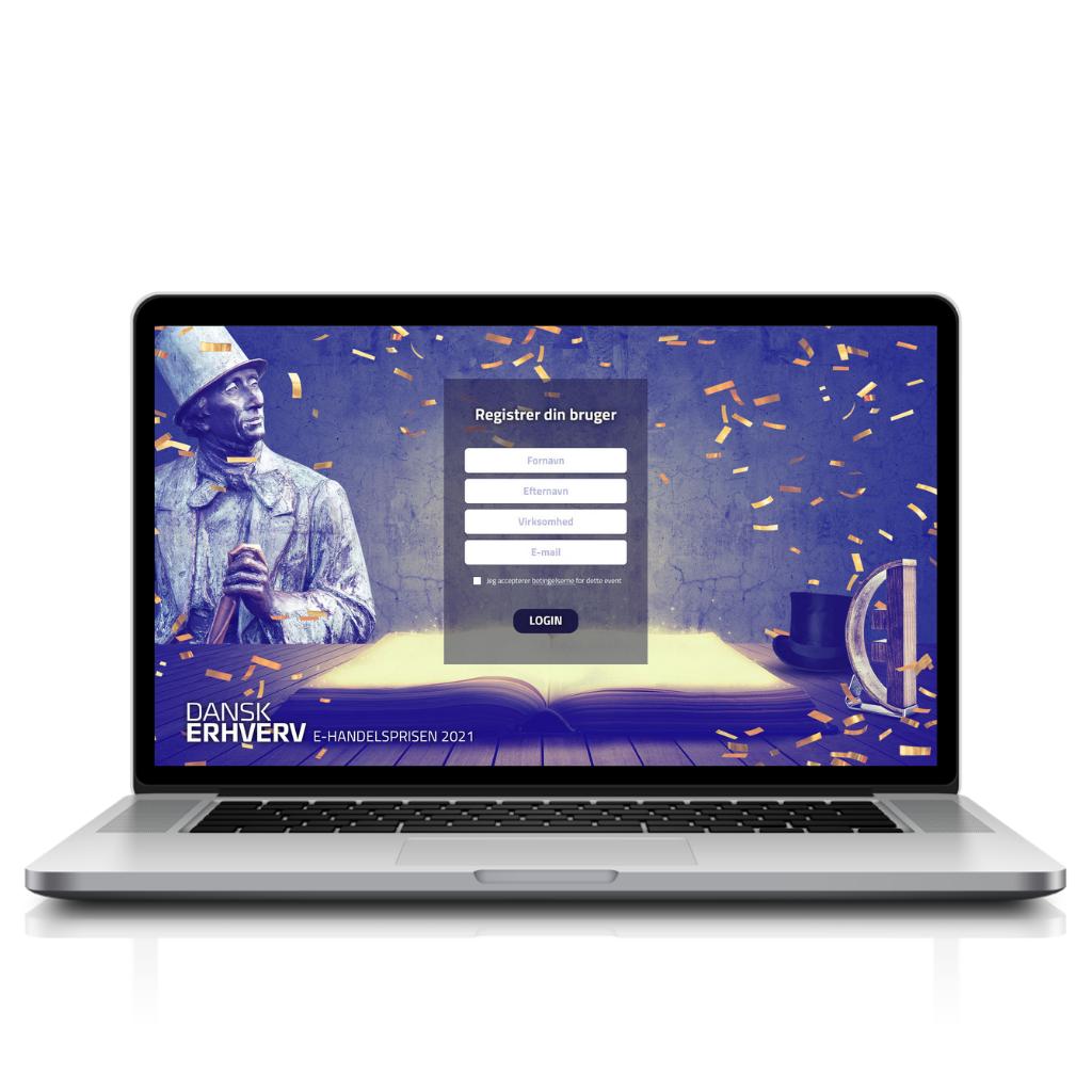 Dansk Erhverv platform Registration page