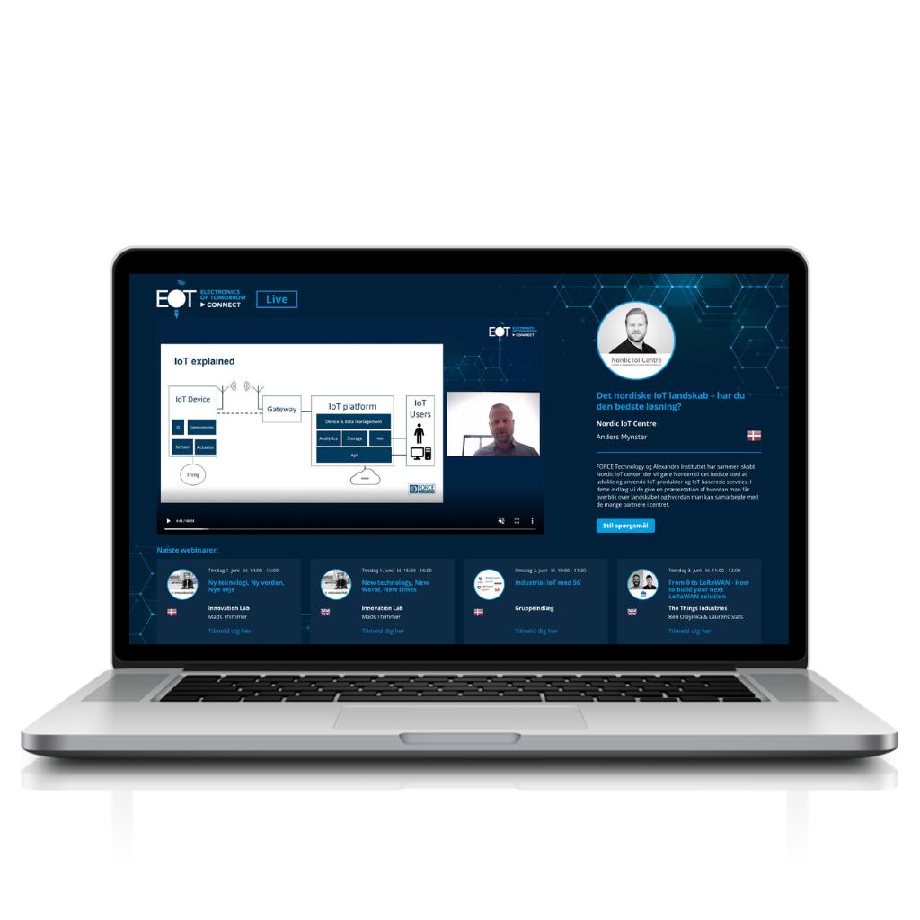 Laptop EOT platform Live page