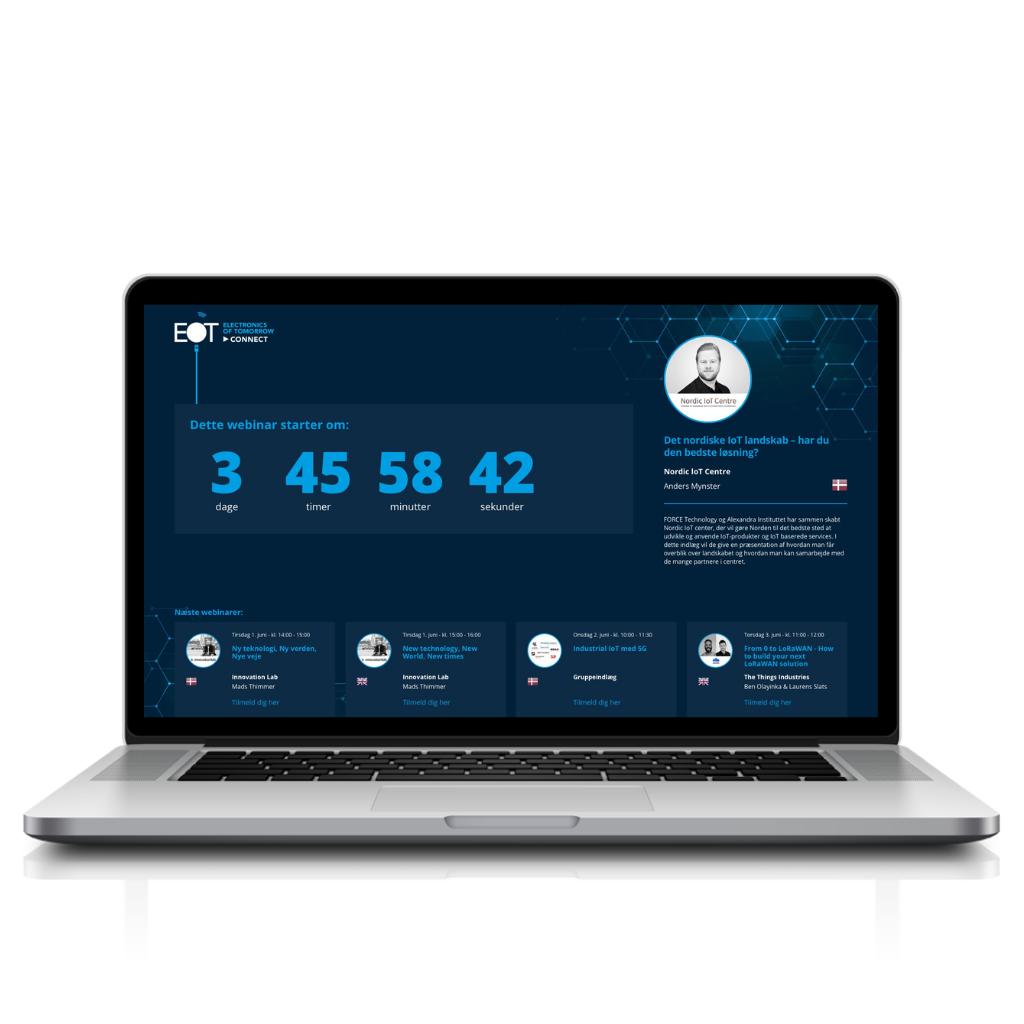 Laptop EOT platform Waiting page